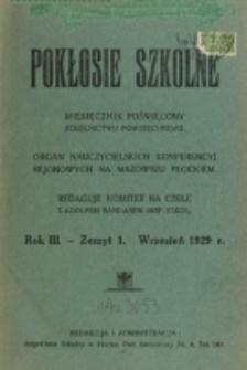 Pokłosie Szkolne. R. 3, z. 1 (1929)