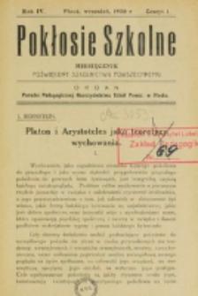 Pokłosie Szkolne. R. 4, z. 1 (1930)