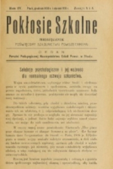 Pokłosie Szkolne. R. 4, z. 4/5 (1930/1931)