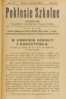 Pokłosie Szkolne. R. 4, z. 8 (1931)