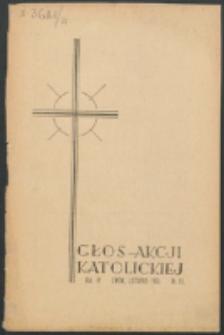 Głos Akcji Katolickiej Archidiecezji Lwowskiej. R. 4, nr 11 (1938)
