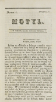 Motyl. Kwartał 1, nr 4 (12 kwietnia 1828)