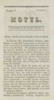 Motyl. Kwartał 1, nr 6 (18 kwietnia 1828)