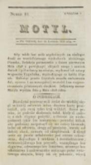 Motyl. Kwartał 1, nr 10 (30 kwietnia 1828)