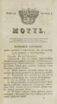 Motyl. Kwartał 1, nr 14 (30 maja 1828)