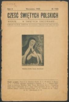 Cześć Świętych Polskich. R. 2, nr 4=6 (1935)