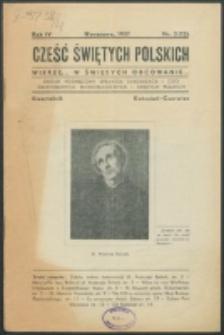 Cześć Świętych Polskich. R. 4, nr 2=12 (1937)