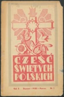 Cześć Świętych Polskich. R. 5, nr 1 (1938)