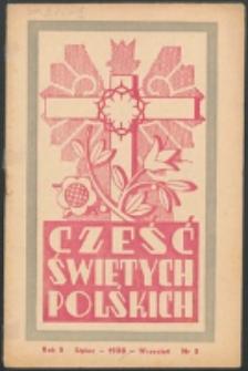 Cześć Świętych Polskich. R. 5, nr 3 (1938)