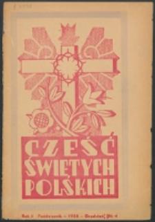 Cześć Świętych Polskich. R. 5, nr 4 (1938)
