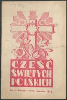 Cześć Świętych Polskich. R. 6, nr 2 (1939)