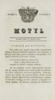 Motyl. Kwartał 1, nr 11 (13 marca 1829)