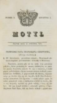 Motyl. Kwartał 1, nr 3 (16 stycznia 1829)