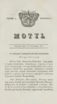 Motyl. Kwartał 1, nr 4 (23 stycznia 1829)