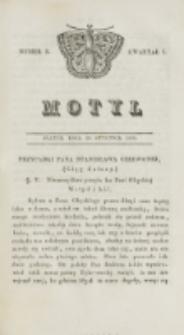 Motyl. Kwartał 1, nr 5 (30 stycznia 1829)