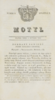 Motyl. Kwartał 1, nr 6 (6 lutego 1829)