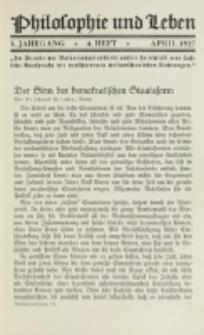 Philosophie und Leben. Jg. 3, H. 4 (1927)