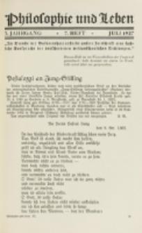 Philosophie und Leben. Jg. 3, H. 7 (1927)