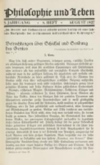 Philosophie und Leben. Jg. 3, H. 8 (1927)