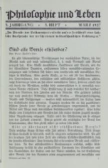 Philosophie und Leben. Jg. 3, H. 3 (1927)