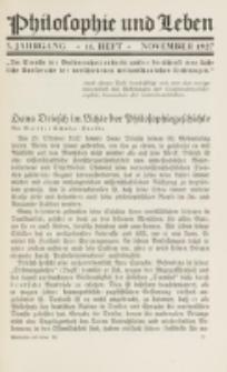Philosophie und Leben. Jg. 3, H. 11 (1927)