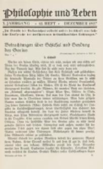 Philosophie und Leben. Jg. 3, H. 12 (1927)