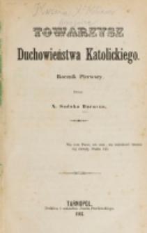 Towarzysz Duchowieństwa Katolickiego. R. 1 (1864)