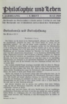 Philosophie und Leben. Jg. 5, H. 5 (1929)