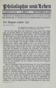 Philosophie und Leben. Jg. 5, H. 9 (1929)