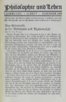 Philosophie und Leben. Jg. 5, H. 12 (1929)