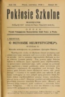 Pokłosie Szkolne. R. 3, z. 10 (1930)