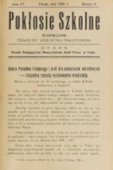 Pokłosie Szkolne. R. 4, z. 6 (1931)
