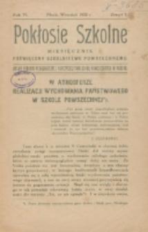 Pokłosie Szkolne. R. 6, z. 1 (1932)