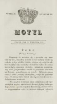 Motyl. Kwartał 3, nr 37 (11 września 1829)