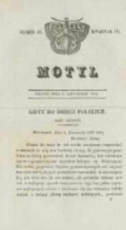 Motyl. Kwartał 4, nr 45 (6 listopada 1829)