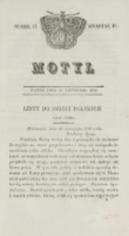 Motyl. Kwartał 4, nr 47 (20 listopada 1829)