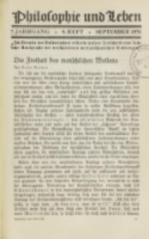Philosophie und Leben. Jg. 7, H. 9 (1931)