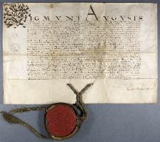 [Przywilej miasta Lublina wydany przez Zygmunta Augusta w 1570 roku]