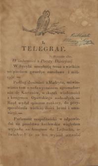 Telegraf. 1821, 1 (7 stycznia)