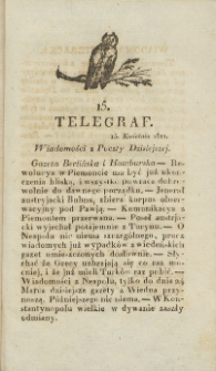 Telegraf. 1821, 15 (15 kwietnia)