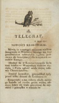 Telegraf. 1821, 18 (6 maja)