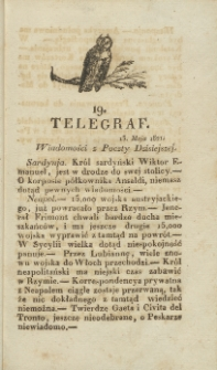 Telegraf. 1821, 19 (13 maja)
