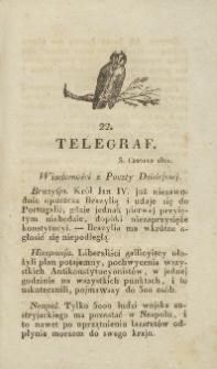 Telegraf. 1821, 22 (3 czerwca)