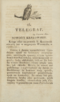 Telegraf. 1821, 25 (24 czerwca)