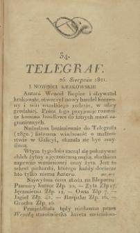 Telegraf. 1821, 34 (26 sierpnia)