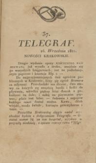 Telegraf. 1821, 37 (16 września)