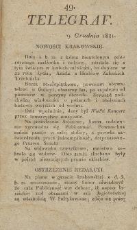 Telegraf. 1821, 49 (9 grudnia)