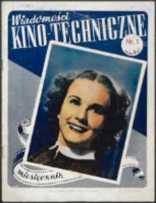 Wiadomości Kino-Techniczne. Nr 1 (1939)