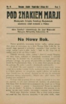 Pod Znakiem Marji. R. 1, nr 4 (1921)