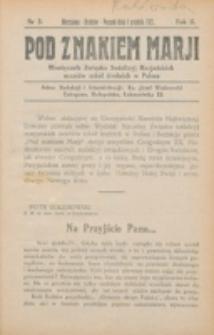Pod Znakiem Marji. R. 2 , nr 3 (1921)